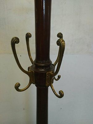 Unusual antique mahogany coat stand - Edwardian or Victorian ?