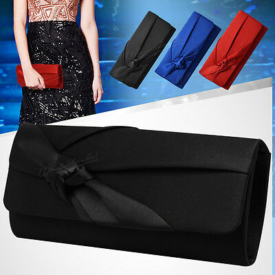 UK Wedding Evening Women Satin Pleated Clutch Bag Shoulder Bag Vintage Handbag