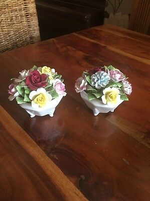 Royal Doulton Flower Basket X 2 Beautiful Have A Look