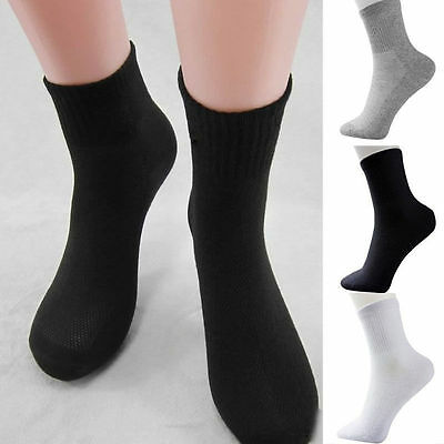 Lot 5 Pairs Mens Womens Cotton Rich Sport Socks Work Ankle Official Socks Gifts