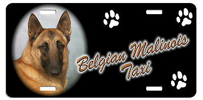 Belgian Malinois Taxi Line License Plate  ((( SPECIAL LOW CLEARANCE PRICE )))