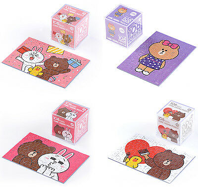 LINE Friends Cube Jigsaw Puzzle 108 pcs 4 Types Character Hobby Toy Teens Decor