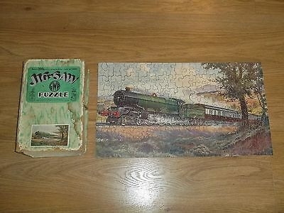 CHAD VALLEY WOODEN JIGSAW PUZZLE GWR ROYAL ROUTE TO THE WEST BOXED steam train
