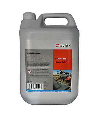Genuine Wurth Upholstery Cleaner 5L Seats Carpet Seat Fabric Roof 5 L Autoglym