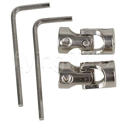 2 x Model Boat Car Shaft Coupler Motor Connector 6x6mm Universal Joint Coupling