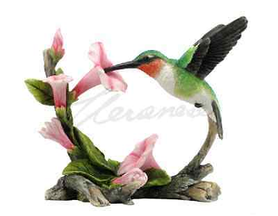 Ruby-Throated Hummingbird Statue Sculpture Figure - GIFT BOXED