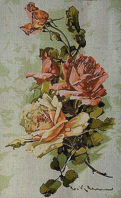 "Gobelin Tapestry Needlepoint Kit ""Flowers"" printed canvas cod.551"