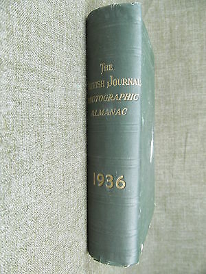 THE BRITISH JOURNAL PHOTOGRAPHIC ALMANAC 1936 HC book photography-camera-movie
