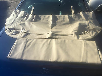 Jaguar E Type S1 Beige Vinyl Hood And Hood Cover New Old Stock Genuine Jaguar