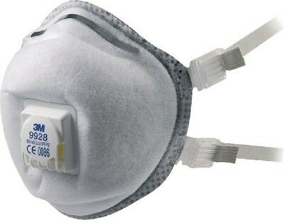 3M Cup Shaped Respirator Welding Fume Smoke Chemical Safety Mask 9928 | White