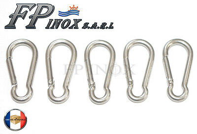 Mousqueton 3mm ( Lot de 5 ) inox 316 Longueur 32mm