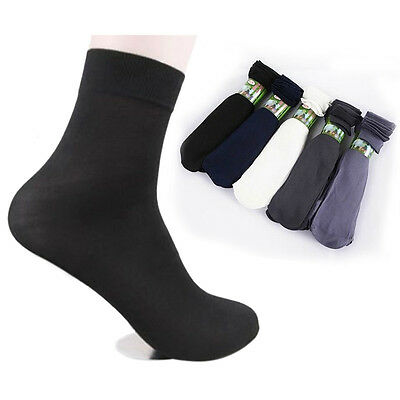 10 Pairs Comfortable Summer Men's Short Bamboo Fiber Socks Stockings Middle Sock