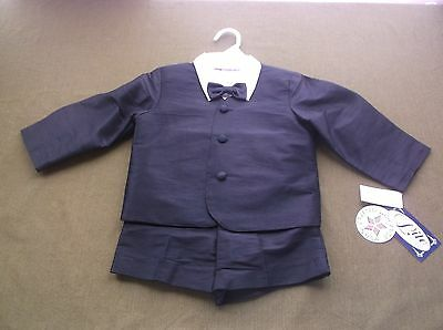 New Baby Toddler Boys 4 Piece Lito Black Suit Size 4T Easter Wedding Church