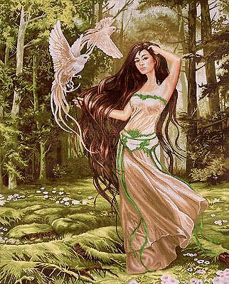 "Gobelin Tapestry Needlepoint Kit ""Forest Nymph"" printed canvas 461"