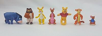 Vintage Polly Pocket Figures from Winnie The Pooh 100 acre wood 1998 Excellent