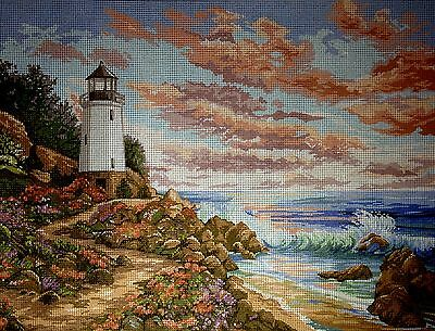 "Gobelin Tapestry Needlepoint Kit ""Lighthouse"" printed canvas 079"