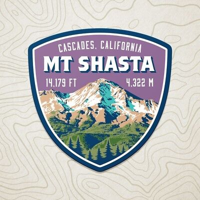 Mt. Shasta Cascades California Decal Sticker