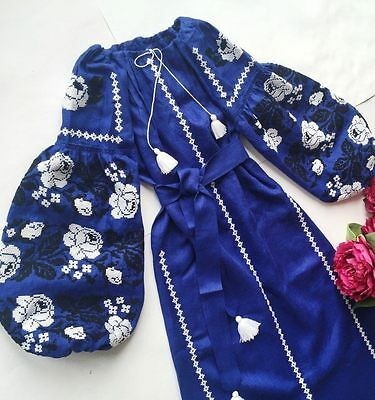 Ukrainian embroidery, embroidered dress, Any Colour, XS - 4XL, Ukraine