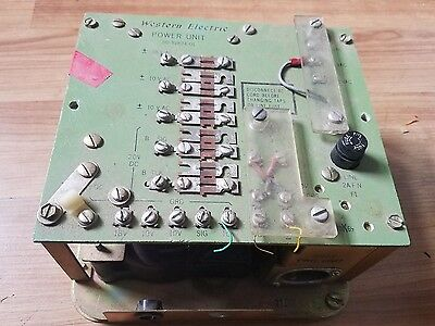 VINTAGE WESTERN ELECTRIC POWER UNIT  P145  SD-81824-01 Transformer capacitor