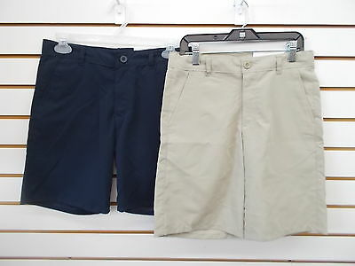Boys IZOD $34 Uniform/Casual Navy or Khaki Wicking Shorts Reg & Husky Sz 10 - 20