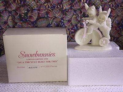 A Tricycle Built for Two, Low Numbered Limited Edition Mint Snowbunnies (1997)