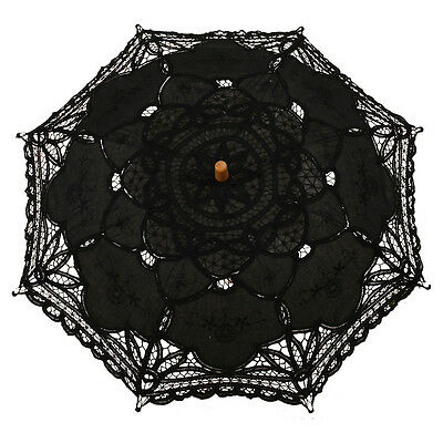 I166 Victorian umbrella umbrella lace wedding bride umbrella black 38x64cm