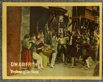 Orphans Of The Storm '21 D.W. Griffith Orig Silent Lobby Card French Revolution