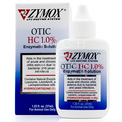 ZYMOX OTIC Hydrocortisone 1.0% Pet Dog Cat Ear Enzymatic Solution Treatment New