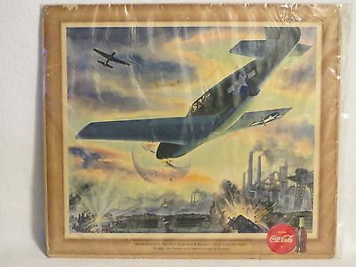 Original 1943 Coca-Cola Litho WWII A-36 Attack Bomber U.S. Army Air Force
