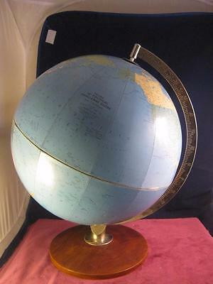 "Vintage Retro  Philips 12 "" Political Challenge Globe Alloy &  Teak Stand"