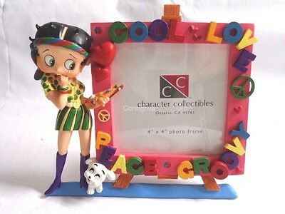 "Character Collectibles Betty Boop Love And Peace 4"" x 4"" Picture Frame"