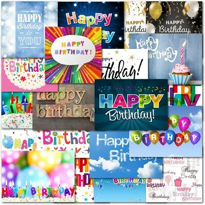 Pack of 20 Mixed Happy Birthday Cards Contempory Male Female Boy Girl Children