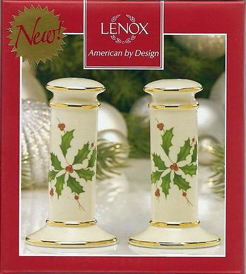 Lenox HOLIDAY ARCHIVE Salt and Pepper Shakers: NEW in Box!