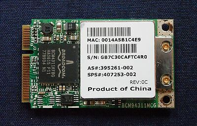 Original HP BROADCOM BCM94311MCG WLAN Modul Mini 802.11b/g 407253-002 395261-002