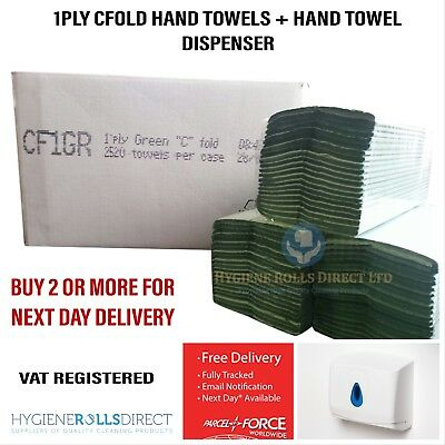 C Fold V Fold Interfold ABS Hand Paper Towel Dispenser & FULL CASE OF HANDTOWEL