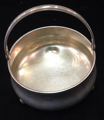 1895 Rissian Imperail 84 Silver Sugar Bowl Signed