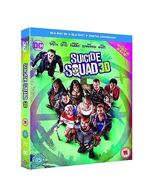 Suicide Squad 3D + 2D with extended cut Blu-Ray BRAND NEW Free Ship