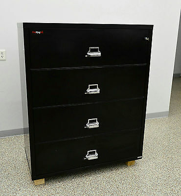 """Fireking Fire Resistant 4 Drawer Lateral Filing Cabinet Fireproof 38"""" 4HD36-5"""