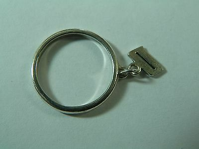 JAMES AVERY LETTER D Script Initial Ring 5 1/4 Sterling Silver Smooth Dangle