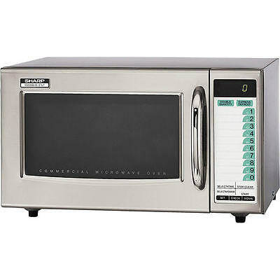 Sharp Professional Microwave Oven, Stainless Steel, R21LTF