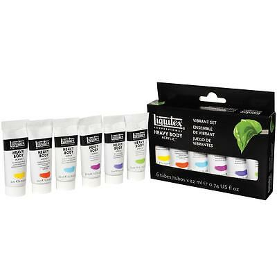 Liquitex Vibrant 6 Set - Acrylic Paint, Craft, Art, Painting, Artist Colours NEW
