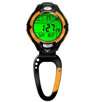 Dakota Temperature Sensor Clip Watch - Orange