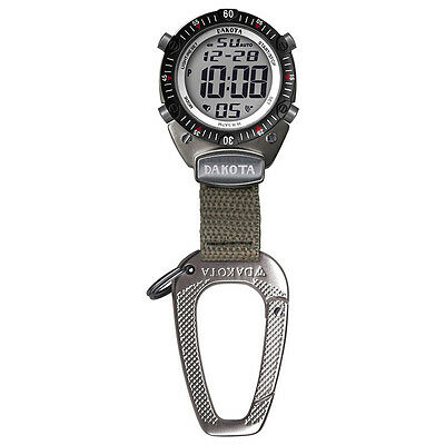 Dakota Digital Outdoor Sport Clip Watch-Silver/Khaki