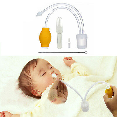 Baby Nasal Suction Aspirator Nose Cleaner Sucker Tool Hospital Toddler Infant
