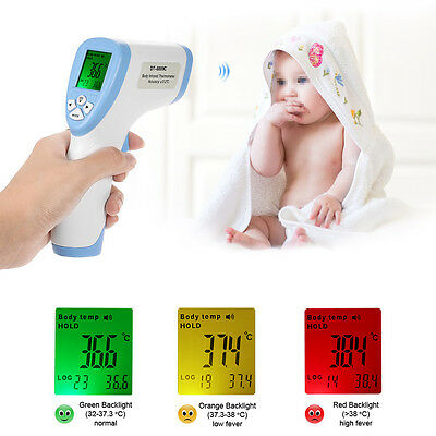 Digital IR Infrared Thermometer Baby Body LCD Non-Contact Forehead Temperature