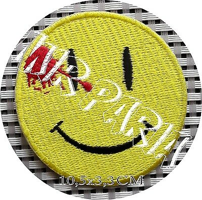 78600171 Watchmen DEAD SMILEY FACE Embroidered Patch Toppa Ricamata
