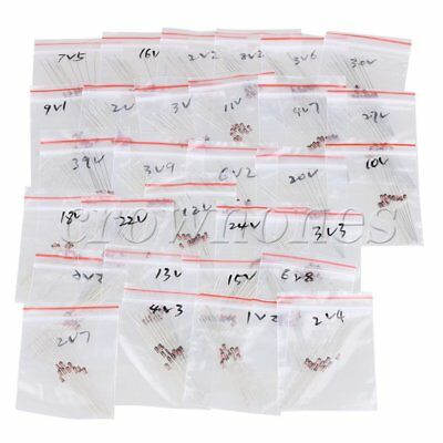 2V-39V 30 Values 1/2W 0.5W Zener Diode Electronics Each 10Pcs DIY Assorted Set