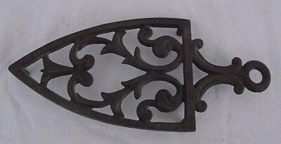 Vintage Decorative   Sad Flat Iron Rest Trivet