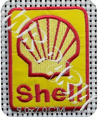 78602342 Shell Petrolium Petrol oil Embroidered Patch Toppa Ricamata