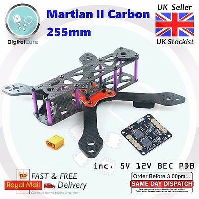Reptile Martian II 255mm FPV Carbon Fiber Frame 4mm Arm + XT60 +PDB- Alien QAV